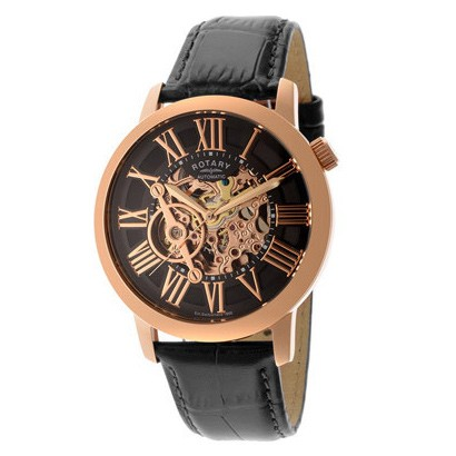 rotary rose gold watches best watchess 2017 rotary swiss men 39 s automatic rose gold tone skeleton watch